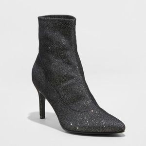 A New Day Cady Pointed Stiletto Sock Booties 9.5
